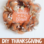 DIY Thanksgiving Mesh Wreath