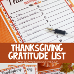 Thanksgiving A to Z Gratitude List