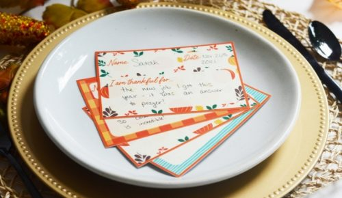Thanksgiving Thankful Place Cards Featured Image