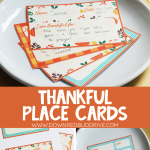 Thanksgiving Thankful Place Cards